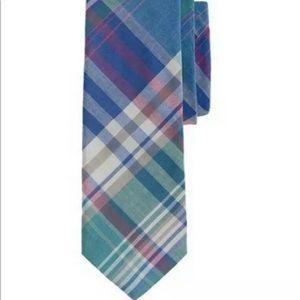 J Crew cotton skinny tie plaid